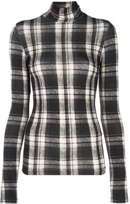 R 13 plaid roll-neck jumper