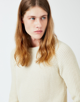 Gant Half Knit Jumper Off White