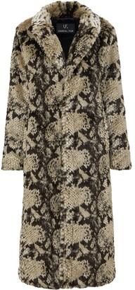 Unreal Fur Faux Fur Snake-Print Coat