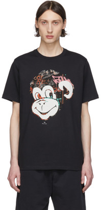Paul Smith Black Graffiti Monkey T-Shirt