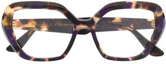 Emmanuelle Khanh Tortoiseshell Frame Glasses