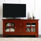 Walker Edison 52-inch Cherry Wood TV Stand with Drawers