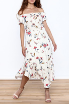 Lush Floral Off Shoulder Dress