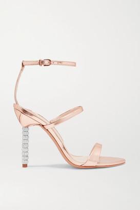 Sophia Webster Rosalind Crystal-embellished Metallic Leather Sandals