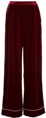 Dolce & Gabbana Wide-Leg Velvet Trousers