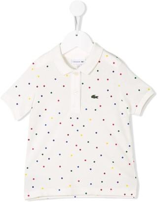 Lacoste Kids Polka Dot Polo Shirt