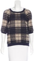 Cacharel Plaid Knit Sweater w/ Tags