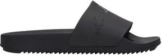 Drkshdw Rubber Sliders Flats In Black Rubber/plasic