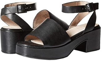 Seychelles Calming Influence (Black Leather) Women's 1-2 inch heel Shoes