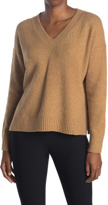 Vince Textured V-Neck Pullover Sweater