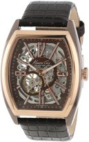 Kenneth Cole New York Men's KC1791 Rose Gold Automatic Barrel Watch
