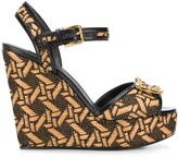 Dolce & Gabbana Amore braided wedge sandals