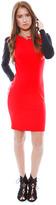 Pencey Long Sleeve Dress in Scarlet
