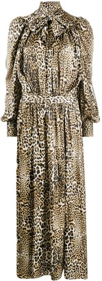 Zadig & Voltaire Run pussy bow leopard maxi dress