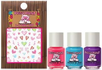 Piggy Paint Unicorn Fairy Nail Polish with Nail Art - 3 Pack
