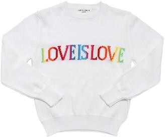Alberta Ferretti Love Is Love Intarsia Knit Sweater