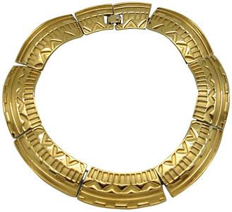 One Kings Lane Vintage Monet Aztec Design Collar Necklace - Thanks for the Memories