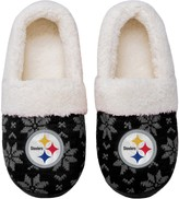 Unbranded Women's Pittsburgh Steelers Ugly Knit Moccasin Slippers