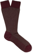 Ermenegildo Zegna Herringbone Cotton-Blend Socks