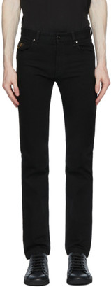 Fendi Black Embroidered Pocket Jeans