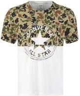 Converse Classic Fit Print Tshirt White
