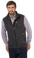Maine New England Dark Grey Knit Effect Gilet