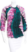 Tucker Printed Silk Blouse w/ Tags
