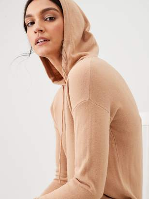 Very Hooded Knitted Dress - Camel