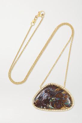 Kimberly + Net Sustain 18-karat Gold, Opal And Diamond Necklace - one size