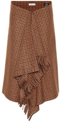 Balenciaga Houndstooth wool-blend skirt