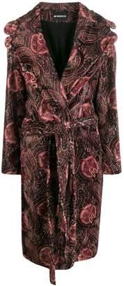 Ann Demeulemeester velvet paisley print coat