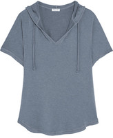 Splendid Hooded Stretch-modal Jersey Top - Blue