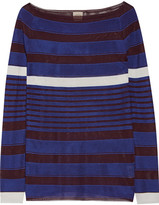 Tod's Striped Stretch-knit Sweater - Cobalt blue
