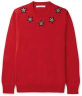 Givenchy Star-Appliquéd Cotton Sweater