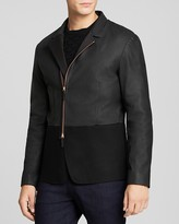 Armani Collezioni Leather and Wool Jacket