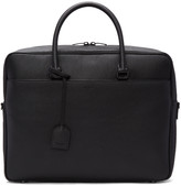 Saint Laurent Black Grained Calfskin Briefcase
