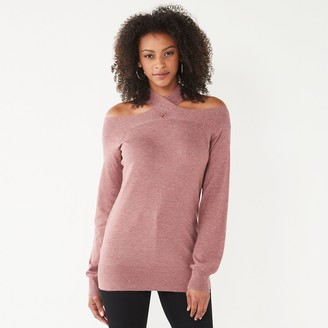 Nine West Women's Crisscross Off Shoulder Sweater