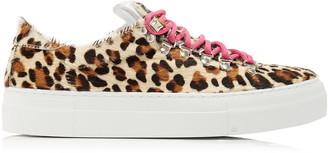 Diemme Marostica Leopard-Print Calf Hair Sneakers