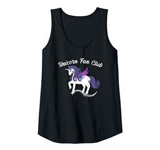 Womens UNICORN FAN CLUB Winged Pegasus Women Teen Girls Kids Gift Tank Top