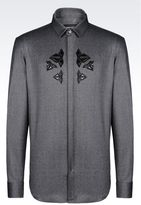Emporio Armani Shirt In Stretch Wool
