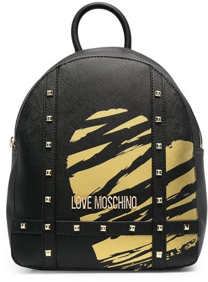 Love Moschino Heart Print Studded Backpack