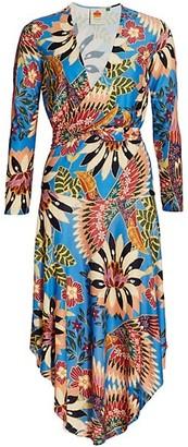 Farm Rio Toucan Jersey Wrap Dress