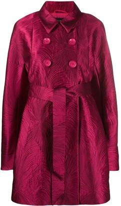 Talbot Runhof Cumarin jacquard double-breast coat