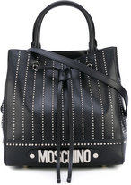 Moschino embroidered tote - women - Leather - One Size