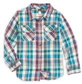 Tea Collection Toddler Boy's Beaufort Plaid Flannel Shirt