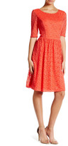Jessica Simpson Lacy Fit & Flare Dress
