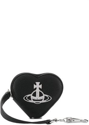 Vivienne Westwood orb logo plaque heart purse