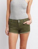 Charlotte Russe Refuge Mid-Rise Denim Shorts