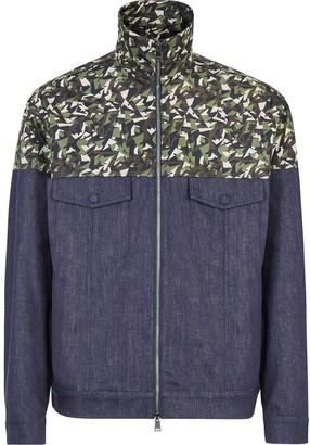 Fendi Bag Bugs camouflage print bomber jacket