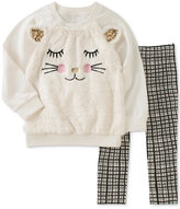 Kids Headquarters Cat Tunic and Leggings Set, Toddler and Little Girls (2T-6X)